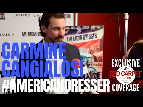 Carmine Cangialosi, Director interviewed at premiere for American Dresser In theaters Friday, 9/21