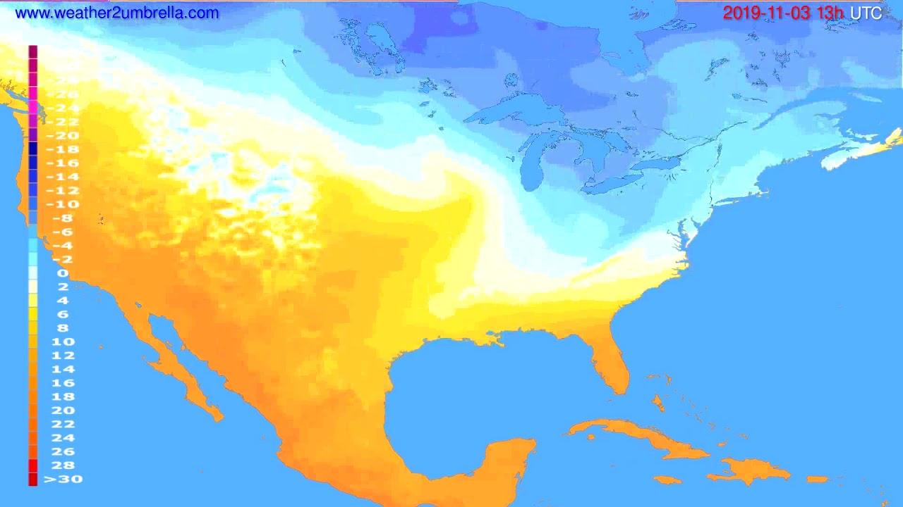 Temperature forecast USA & Canada // modelrun: 00h UTC 2019-11-02