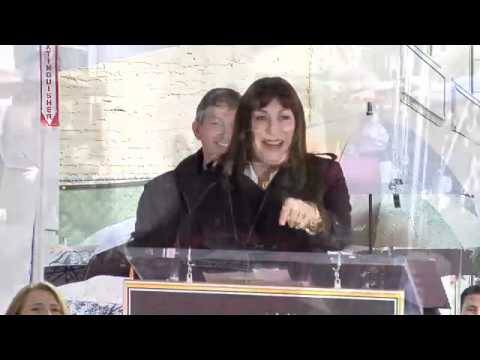 Anjelica Huston Walk of Fame Ceremony