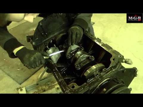 how to remove mgb engine