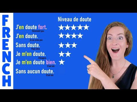 DOUTER, SE DOUTER, SANS DOUTE, S'EN DOUTER - Leçon de français - Doubts and uncertainty in French