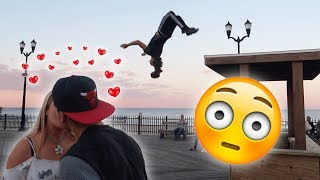 FLIPS FOR KISSES AT THE BEACH (GONE SEXUAL... THEY MADE OUT!)