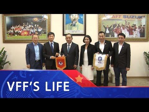 Chủ tịch VFF Lê Khánh Hải tiếp và làm việc với Chủ tịch KFA Chung Mong Gyu