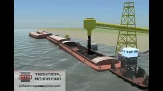 Video 3D Technical Animation - Barge Operation MP3, 3GP, MP4, WEBM, AVI, FLV April 2019