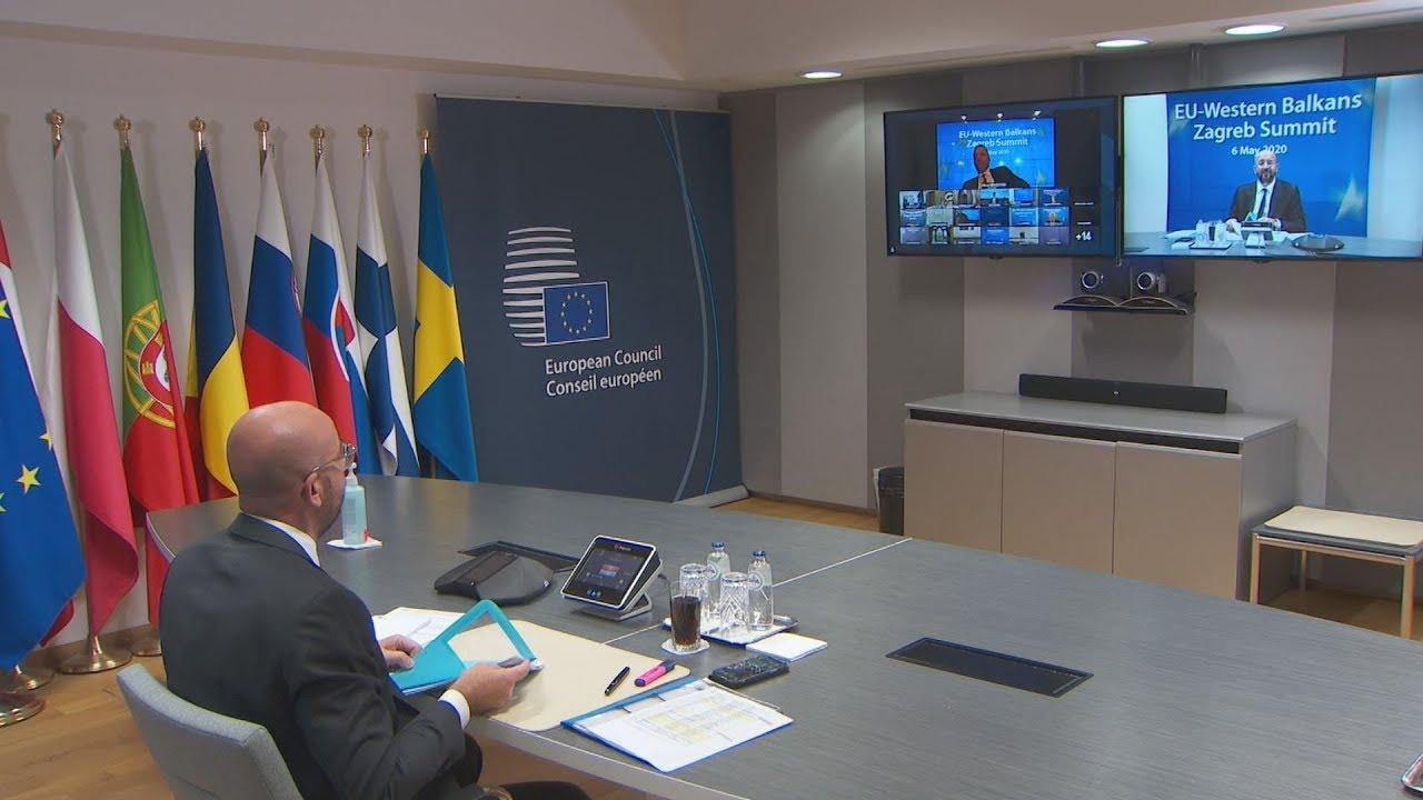 Πλάνα από την  σύνοδο κορυφής Ε.Ε. για τα δυτικά Βαλκάνια