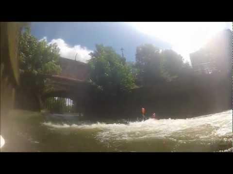 Playboating at Woodmill weir- Filmed on Gopro Hero 2.wlmp.wmv
