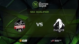 Faceless vs Mineski, Boston Major SEA Qualifiers