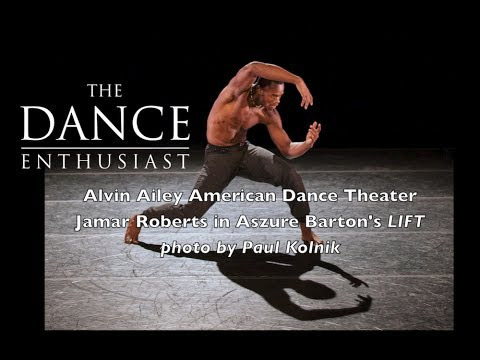 "New York Dance Up Close: Jamar Roberts of AAADT in ""LIFT""- A Regal Minute of Rehearsal"