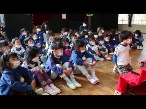 三木の幼稚園でひな祭り会