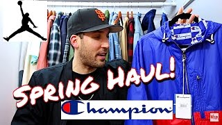 Here's a look my newest Spring Fashion pickups in a Haul vid! Light weight 90's style track jackets, vintage shorts, new Jordan Retro Sneakers and a high end...