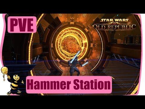 SWTOR 2017 Gamplay Walkthrough PVE FLASHPOINT - Hammer Station | Sorcerer Healer