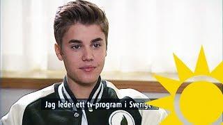 Justin Bieber Interview With Tilde De Paula - Nyhetsmorgon (TV4)