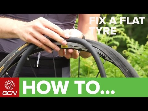 Video How To Fix A Flat Tyre - Fix A Road Bike Puncture download in MP3, 3GP, MP4, WEBM, AVI, FLV January 2017
