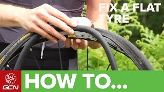 How to fix a road bike flat tyre