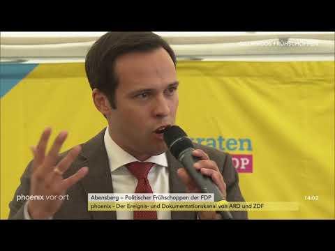 Martin Hagen beim politischen Frühschoppen der FDP am 0 ...
