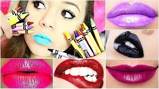 DIY: Make lipstick out of CRAYONS! - YouTube