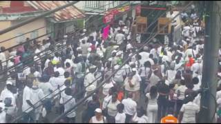 ROSEAU DOMINICA DEMONSTRATION TURN INTO RIOTS Police have fired tear gas in Roseau to disperse protesters.