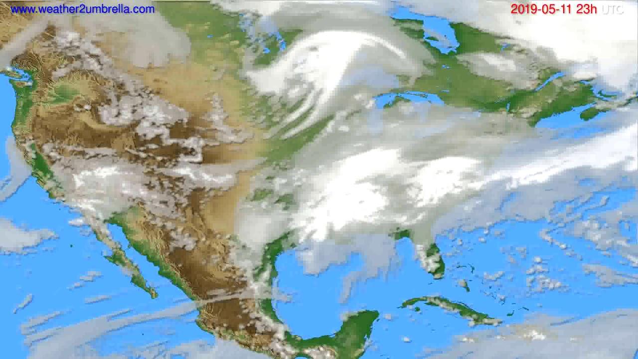 Cloud forecast USA & Canada // modelrun: 12h UTC 2019-05-08