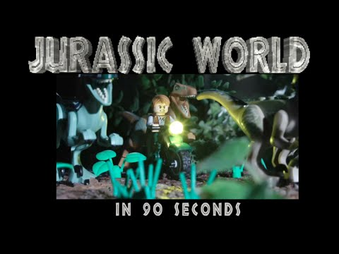 The  Jurassic World  Retold in 90 Seconds as a LEGO Animated