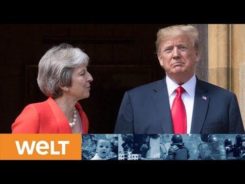 KRITIK UND DEMÜTIGUNG: May und Trump zu ihren