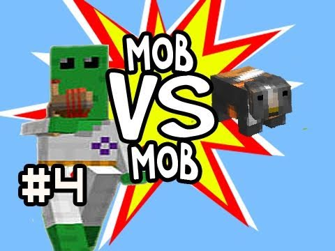 Minecraft: 100+ Floobs (Aliens) vs 100 Guinea Pigs Mob vs Mob & 100k Thank You Video