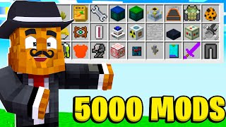 CRASHING My Server With OVER 5000 Mods In Minecraft