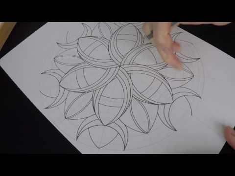 How to draw Crescents mandala - original pattern