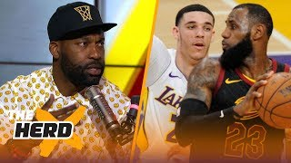 Baron Davis on why Lakers shouldn't drop Lonzo to get LeBron, Kawhi and Paul George | NBA | THE HERD by Colin Cowherd