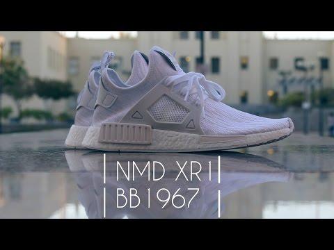 Adidas NMD XR1 Triple White (On Feet) видео