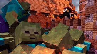 Minecraft | MUTANT ZOMBIE BASE DEFENSE! (Base vs Giant Zombie Challenge)