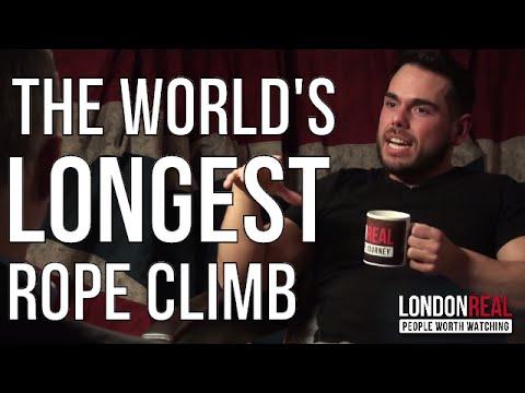 LONGEST ROPE CLIMB IN THE WORLD - Ross Edgley (видео)