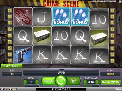 Crime Scene new NetEnt video slot at Bet24 Casino