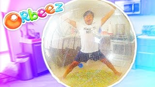 INSIDE A GIANT ORBEEZ BUBBLE BALL!