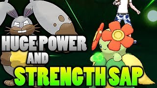 Does Huge Power Double the HP Recovered With Strength Sap In Pokemon Ultra Sun and Moon?