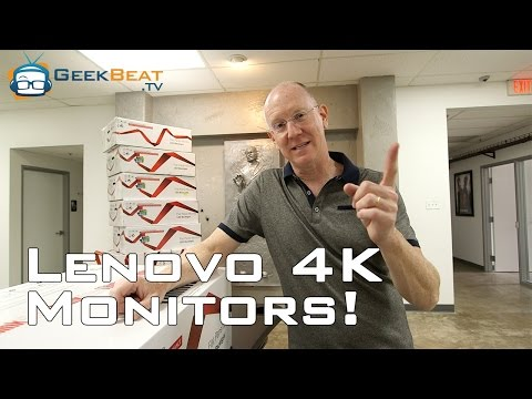 Lenovo ThinkVision Pro2840m 4K Monitor Unboxing