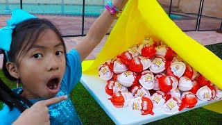 Video Wendy & Liam Pretend Play Learn to Share w/ Kinder Surprise Egg Toys MP3, 3GP, MP4, WEBM, AVI, FLV Februari 2019