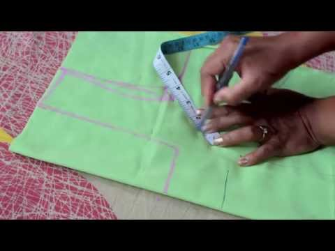 HOW TO MEASURE AND CUT SIMPLE BLOUSE(PART 1)