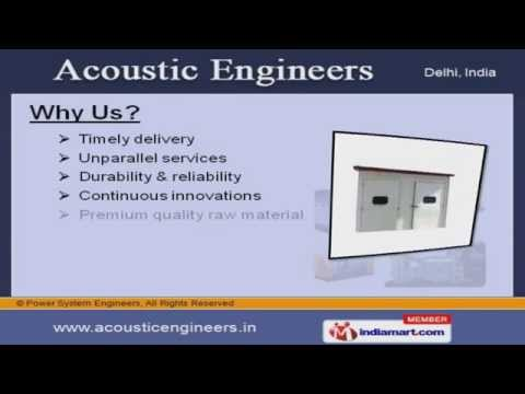 ACOUSTIC TREATMENT PRODUCTS by Power System Engineers, New Delhi