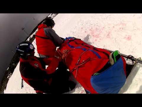 Tatranská horská služba - dobrovoľný zbor: zásah na lyžiarskom svahu