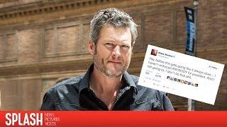 Debra Messing Apologizes to Blake Shelton For Trump Tweet | Splash News