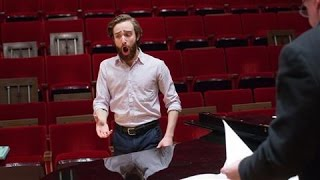 Watch baritone Theo Hoffman (pictured) and countertenor Jakub Józef Orliński sing during a Juilliard School master class in December. Both are finalists in t...