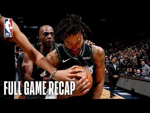 Video: JAZZ vs TIMBERWOLVES | Derrick Rose Records A Career-High 50 Points | October 31, 2018