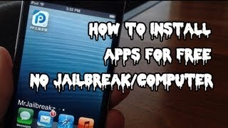 How To Get APPS FREE IOS 6/7 (NO JAILBREAK/COMPUTER)- 25PP Mobile (October 2013)