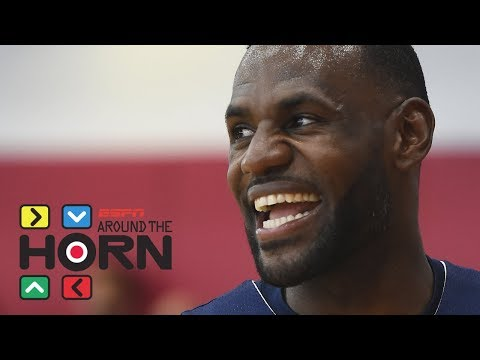 LeBron James posts video of pickup game at UCLA | Around the Horn | ESPN