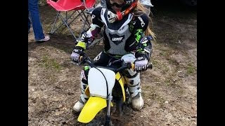 6. First Motocross Track Ride -- Peyton on her 2006 Suzuki JR50