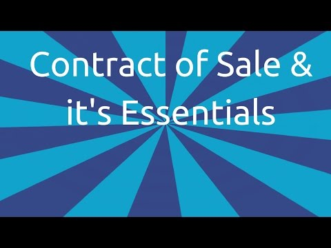 Contract of Sale & it's Essentials | Formation of the Contract of Sale | CA CPT |CS & CMA Foundation