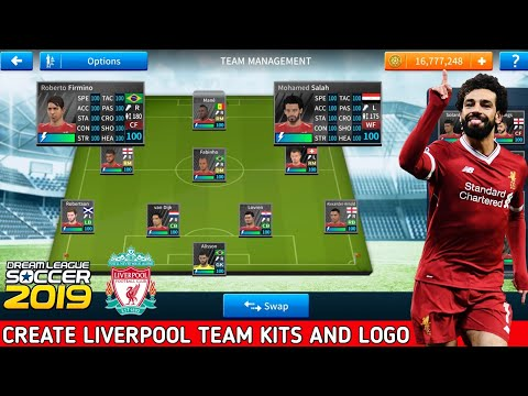 How To Create Liverpool Team Kits And Logo In Dream League Soccer 2019