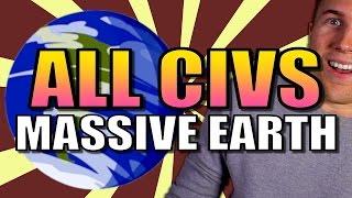 Video ALL 24 CIVS ON MASSIVE EARTH!! | Civilization 6 Gameplay [Civ 6 AI Only Deity] - Part 1 MP3, 3GP, MP4, WEBM, AVI, FLV Maret 2018