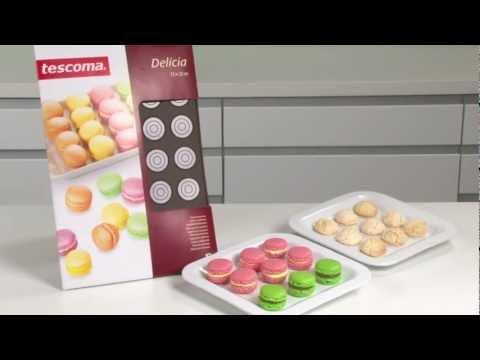 Видео Силиконовые формочки Tescoma Форма для макронок DELICIA SILICONE Tescoma 629358