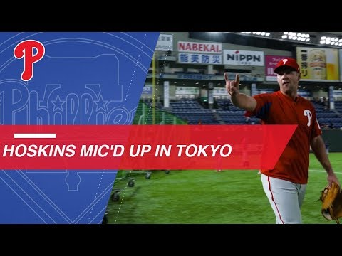 Video: Rhys Hoskins mic'd up for batting practice in Tokyo
